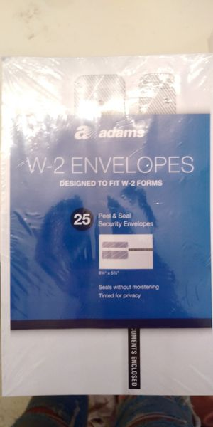 Adams 25 pack W2 Tax Envelopes for Sale in Sacramento, CA