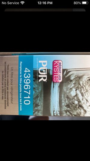 Ice and water filter Whirlpool 4396710 for Sale in San Diego, CA
