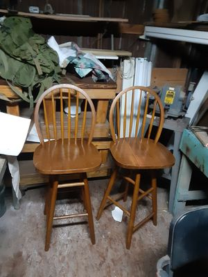 The two wooden bar stools for Sale in Houston, TX