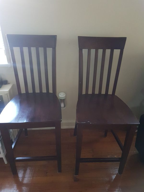Dark wooden chairs, dining room chairs