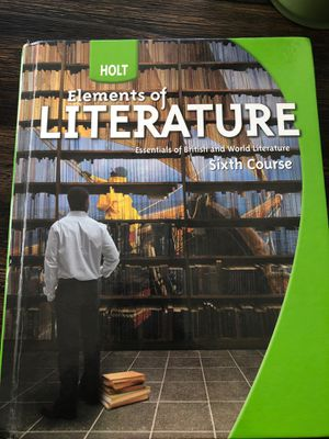 Elements Of Literature: Sixth Course for Sale in Catonsville, MD