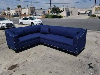 NEW 7X9FT JEOPARDY NAVY FABRIC COMBO SECTIONAL COUCHES for Sale in El Monte,  CA