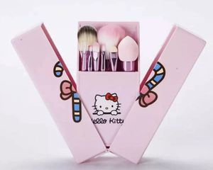 Hello Kitty 8pcs Makeup Brushes Gift Set with Mirror & Box Christmas Travel Size for Sale in Brookshire, TX
