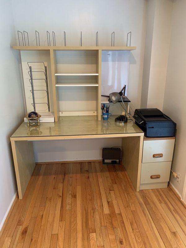 IKEA desk with organizer