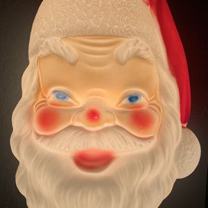 "Vintage Empire Christmas 17"" Blow Mold Santa Head Good Condition, Includes Light Cord for Sale in Sacaton, AZ"
