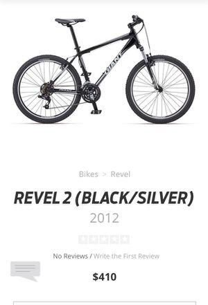 GIANT Revel2 Mountain Bike 2012 Black/Silver $140obo for Sale in Phoenix, AZ