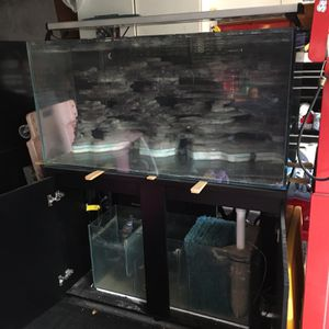 85 Gallon commercial grade fish tank and cabinet for Sale in Whittier, CA