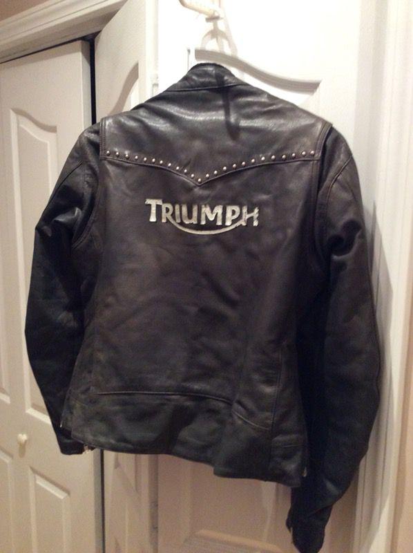 Genuine Triumph Leather Ladies Motorcycle Jacket