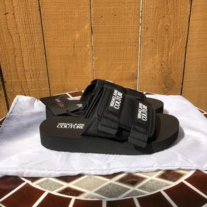 Versace Jeans Couture Slides Mens Black Size 8.5 Gucci Louis Vuitton for Sale in Torrance, CA