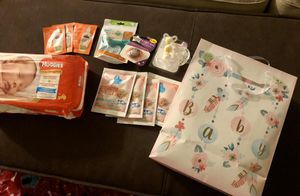 Baby bundle pacifiers/dreft/HUGGIES diapers/palmers for Sale in Rancho Cucamonga, CA