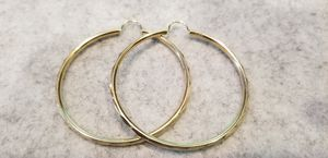 Large womans beautiful 14kt gold loop earrings for Sale in South Gate, CA