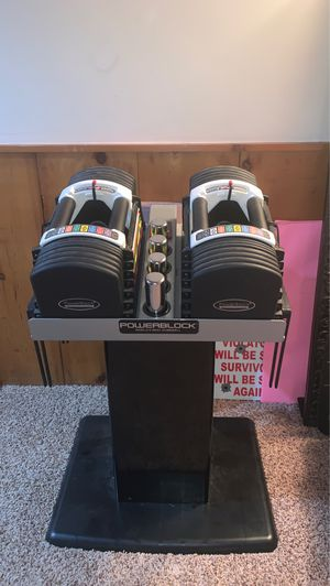 Powerblock Dumbbell Weights With Stand for Sale in Moline, IL