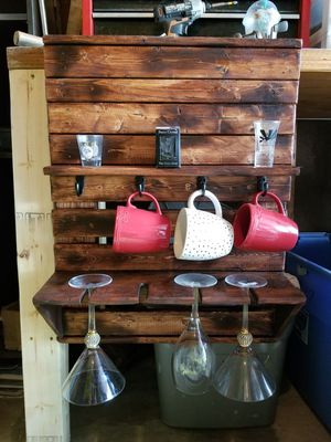 Wine/shot/coffee mug rack for Sale in Wright-Patterson Air Force Base, OH