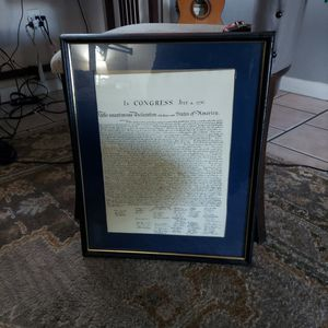 Decleration Of Independence Framed 20 By 16 Inches for Sale in Tampa, FL