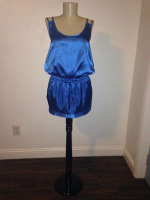 Blue Dress Polkadot dress Slinky Slip dress Size Small for Sale in Largo, FL