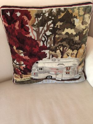 Airstream needlepoint pillow for Sale in INDN RIV SHRS, FL