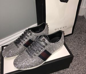 Gucci silver glitter sneakers for Sale in The Bronx, NY