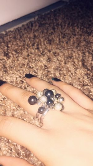 Black and silver ring with beads for Sale in Lawton, OK