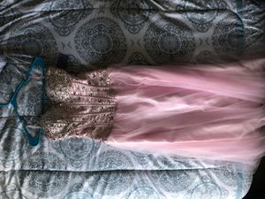 Light pink, corset prom dress for Sale in Carnegie, PA