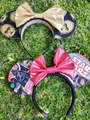 2 Mickey handmade swar wars ears for Sale in Fullerton, CA