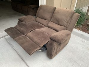 Free Microsuede Sofa and Love Seat Recliners for Sale in Milpitas, CA