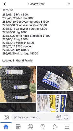 Llantas!!!! for Sale in Grand Prairie, TX