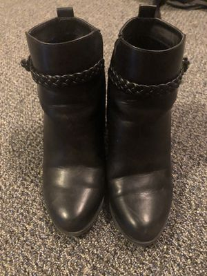 Black leather booties for Sale in Silver Spring, MD