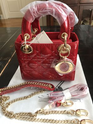 Lady D Patent leather Red Cannage small tote for Sale in Kennesaw, GA