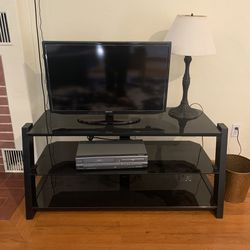 Black Glass 3 Tier Tv Stand for Sale in Fresno,  CA