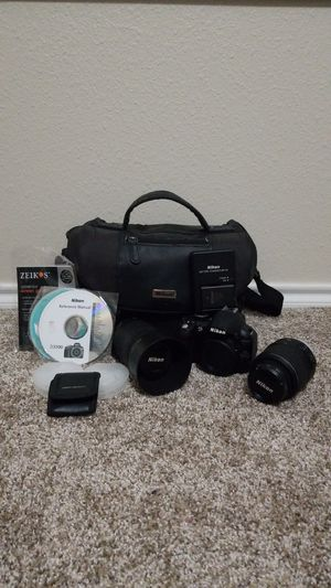 Nikon D3100 with 18-55mm and 55-200mm lenses. for Sale in San Antonio, TX