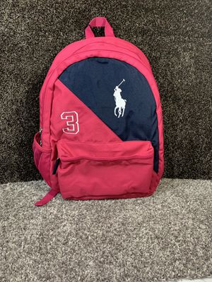 Polo Ralph Lauren Authentic Banner Stripe 3 Backpack Fuchsia/Navy/White - Pink/Blue/White Brand New With Tags Authenticity Guaranteed MSRP $150.00 for Sale in Edgemere, MD