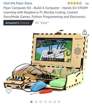 Piper Computer Kit - Build A Computer - Hands On STEAM Learning with Raspberry Pi, Blockly Coding, Custom StoryMode Games, Python Programming and Ele for Sale in Woodbridge Township, NJ