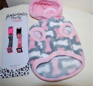 Xs dog clothes and collar set for Sale in Daphne, AL