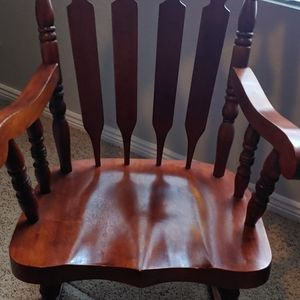 Solid Oak Rocking Chair for Sale in Thornton, CO