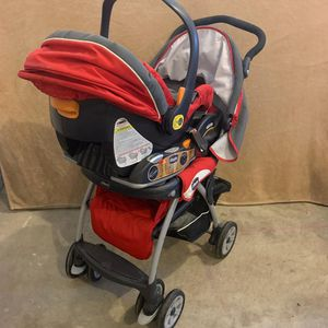 Chico travel set stroller and car seat for Sale in Herndon, VA
