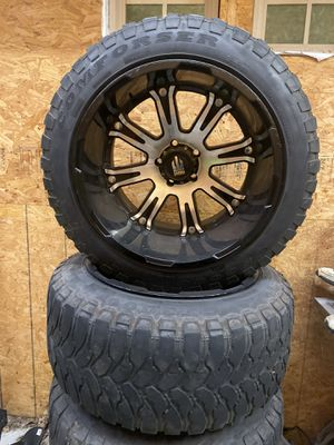 "5 lug 22"" wheels and tires for Sale in Dallas, TX"
