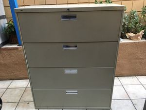 4 Drawer Legal Size Horizontal File Cabinet for Sale in San Diego, CA