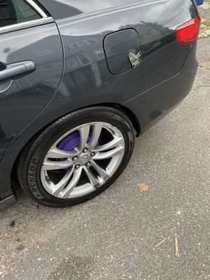 18x8 infinity wheels lookin for trade for Sale in Waterbury, CT
