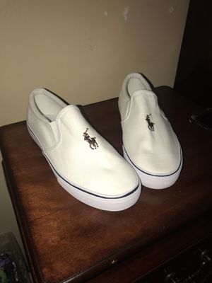Polo Ralph Lauren slip on canvas casual sneakers for Sale for sale  Brooklyn, NY