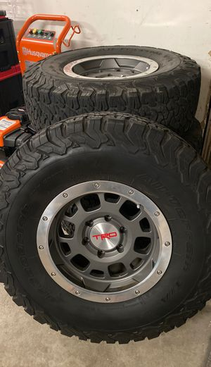 Toyota oem baja trd rims and tires for Sale in Merced, CA