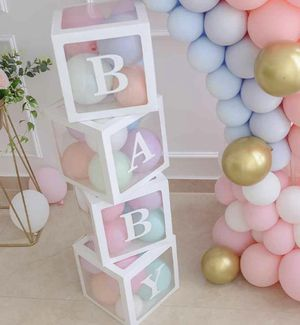Transparent Box Baby Party Decor Cardboard for Sale in MINETONKA MLS, MN