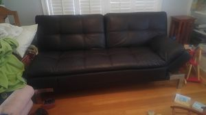 Costco leather brown black futon for Sale in Portland, OR