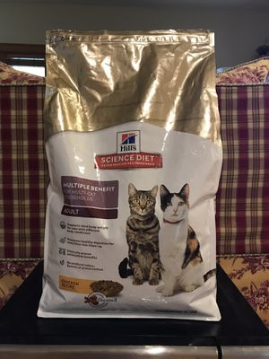 Hill's Science Diet Adult Multiple Benefit Chicken Recipe Dry Cat Food, 15.5-lb bag for Sale in Seattle, WA