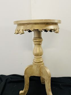 Gold Ornate Side Table - Set Of 2 for Sale in Portland,  OR