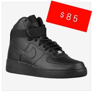 New All Black Nike Air Force 1 High Shoes Size 6 in mens (fits a womens size 7.5 - 8) New Never been wore Pick up All Black for Sale in Riverside, CA