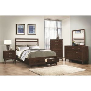 Brand New Modern Queen Size 5 PC Bed Set Platform Bed with Storage Drawers Solid Wood for Sale in KNG OF PRUSSA, PA