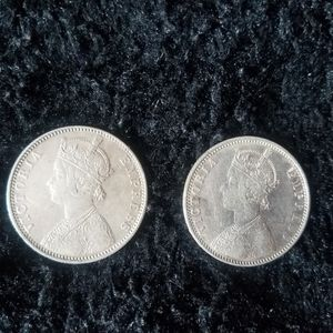 INDIA 1 RUPEE 1901 QUEEN VICTORIA 1 SILVER MONEY BRITISH INDIAN ASIA COIN for Sale in Norridge, IL