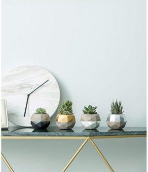 Cement Planter Geometric Colorful Design Concrete Succulent Pots Modern Flower Pots Desk Office for Sale in Chicago, IL