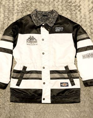 RARE! Men's Kappa 90's jacket size M Like new! Amazing condition great collectors piece. Kappa SKT 2 rare early 90's black & white waterproof, breath for Sale in Washington, DC