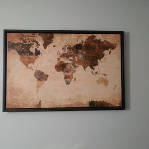 36 X 24 Inch World Wall Decor for Sale in Colorado Springs, CO